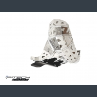 Skid plate with exhaust pipe guard and plastic bottom for Beta RR200