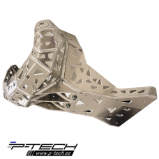 Skid plate with exhaust pipe guard for Gasgas GP