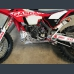 Skid plate with exhaust pipe guard and plastic bottom for Gasgas GP