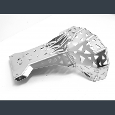 Skid plate with exhaust pipe guard for KTM, Husaberg, Husqvarna