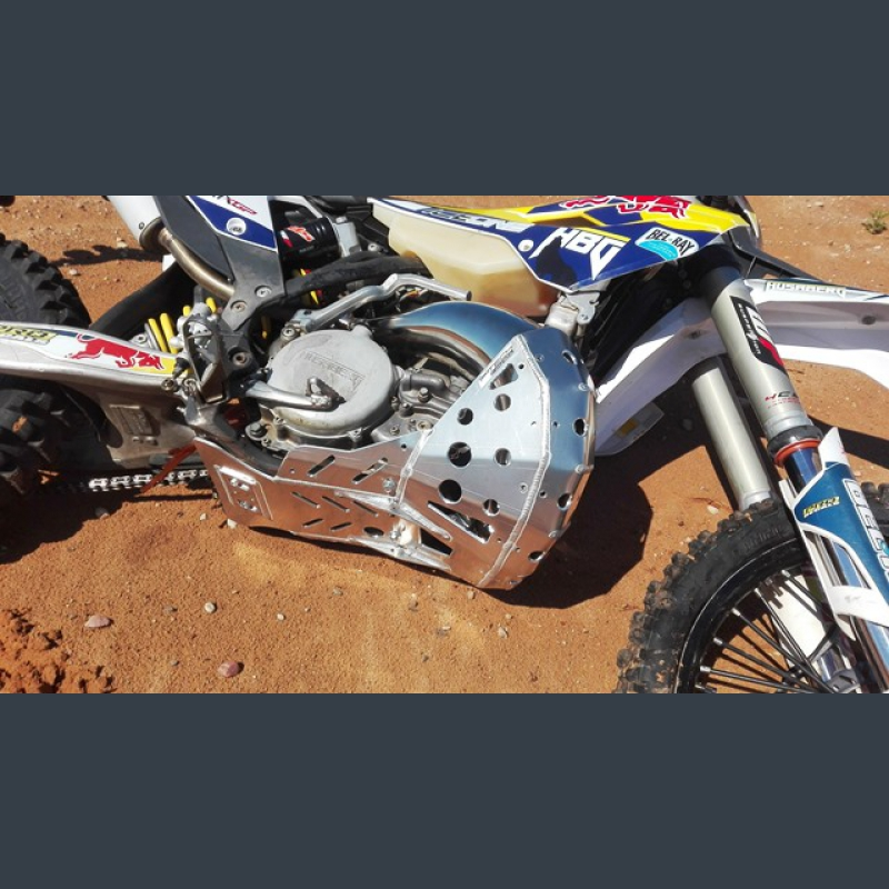 Skid Plate With Exhaust Pipe Guard For KTM, Husaberg