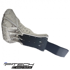 Skid plate with exhaust guard and plastic bottom for Husqvarna TE TPI.
