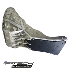 Skid plate with exhaust guard and plastic bottom for KTM EXC / XC TPI.