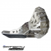 Skid plate with exhaust guard and plastic bottom for KTM EXC / XC