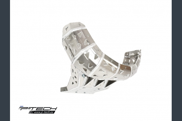 Skid plate with exhaust guard for KTM XC / SX / EXC and Husqvarna TX / TE 2019 - 2020