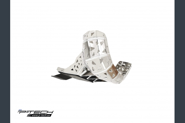 Skid plate with exhaust guard and plastic bottom for KTM XC / SX / EXC and Husqvarna TX / TE 2019-2020