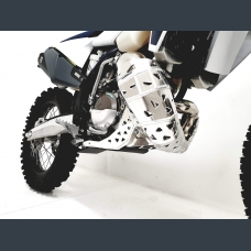 Skid plate with exhaust guard and plastic bottom for KTM EXC 150 and Husqvarna TE 150 2020