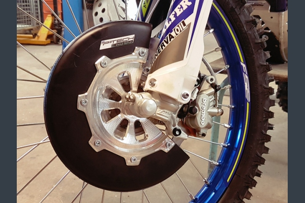 Front brake disc guard for Sherco 2018-2019.